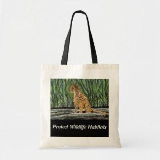 Cheetah-Lebensraum-Budget-Tasche Budget Stoffbeutel