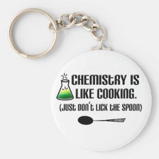 Chemie-Kochen Standard Runder Schlüsselanhänger