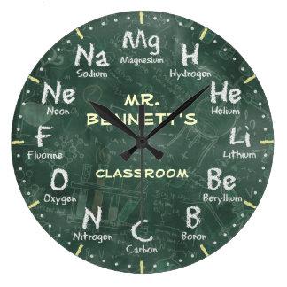 Chemie-Wissenschafts-Tafel Personalizable Uhr