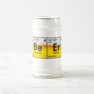 Chemisches Bier Stein Bierglas