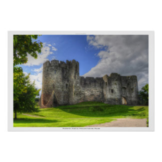 Chepstow Schloss, Ypsilon-Tal, Monmouthshire, Poster