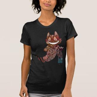 Cheshire-Katzen-Pilz-Glas T-Shirt