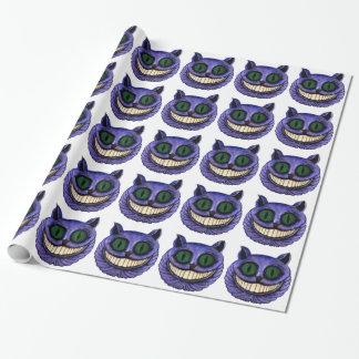 CHESHIREcat-KOPF (Entwurf 1) Einpackpapier