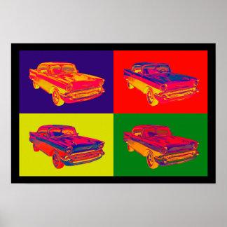 Chevy Bel Air Auto-Pop-Kunst 1957 Poster