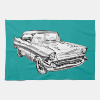 Chevy Bel Air-Illustration 1957 Geschirrtuch