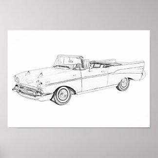 Chevy Bel Air-Kabriolett 1957 Poster