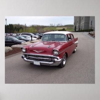 Chevy Bel Air-Plakat 1957 Poster