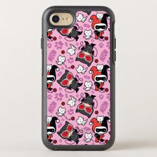Chibi Catwoman, Harley Quinn u. Kätzchen-Muster OtterBox Symmetry iPhone 8/7 Hülle