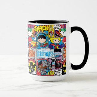 Chibi Gerechtigkeits-Liga-Comic-Buch-Muster Tasse