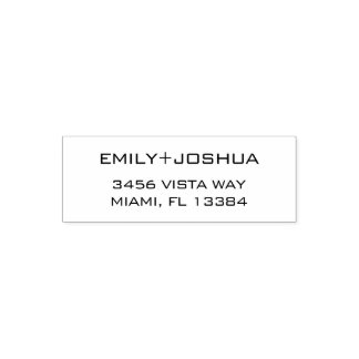 Chic-elegante Rücksendeadresse-Briefmarke Permastempel