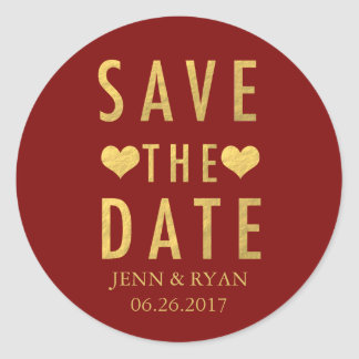 CHIC-GOLD SAVE THE DATE RUNDER AUFKLEBER