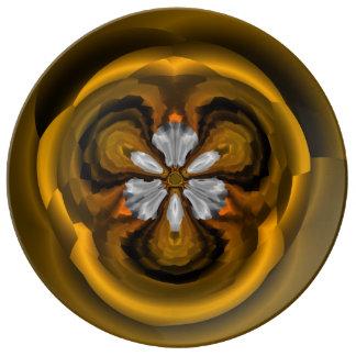 Chic-Kastanien-Blumen-dekorative Porzellan-Platte Porzellanteller
