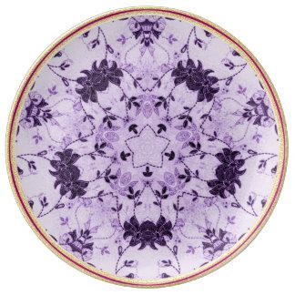Chic-Lavendel-Blumen-dekorative Porzellan-Platte Porzellanteller