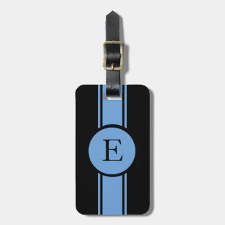 CHIC LUGGAGE/BAG TAG_153 BLUE/BLACK/MONOGRAM KOFFER ANHÄNGER