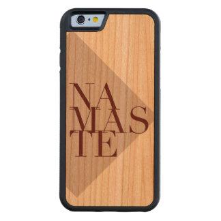 Chic Namaste Yoga inspirierte | hölzernen Iphone Bumper iPhone 6 Hülle Kirsche