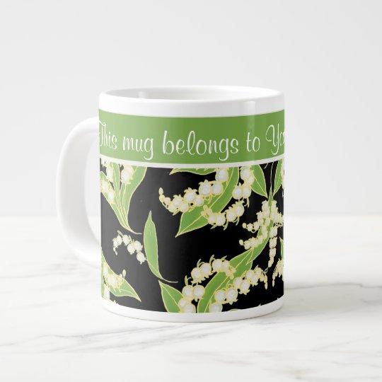 chic riesige kaffee tasse maigl ckchen schwarzes extragro e tasse zazzle. Black Bedroom Furniture Sets. Home Design Ideas