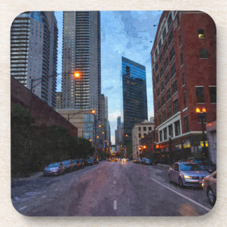 Chicago-Abends-Antrieb Untersetzer