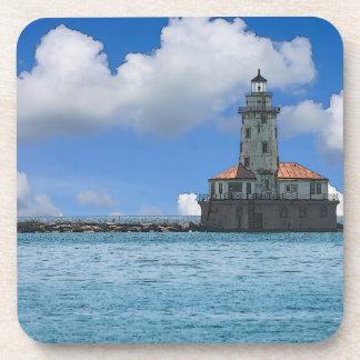 Chicago-Hafen-Leuchtturm Painterly Getränkeuntersetzer