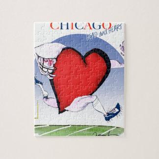 Chicago-Haupt- und Herz, tony fernandes Puzzle
