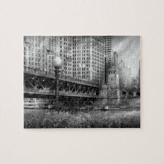 Chicago, IL - DuSable Brücke errichtete im Jahre Puzzle