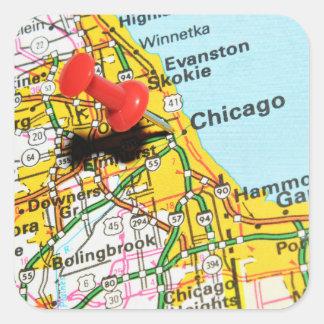 Chicago, Illinois Quadratischer Aufkleber