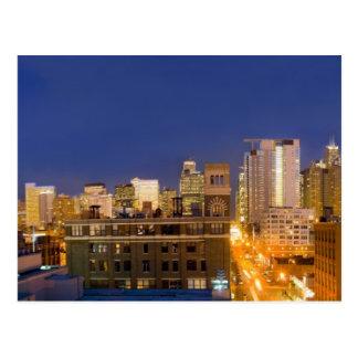 Chicago, Illinois, Skyline schoss von der Postkarte