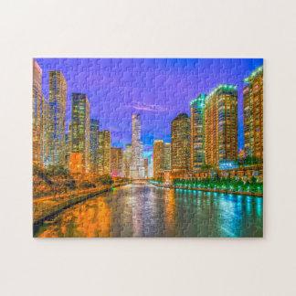 Chicago Illinois Streetscape. Puzzle