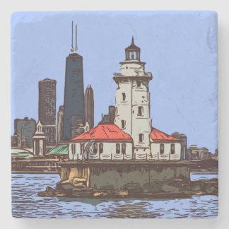 CHICAGO-LEUCHTTURM STEINUNTERSETZER