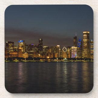 Chicago-NachtStadtbild Untersetzer