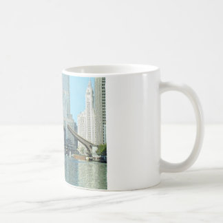 Chicago River Columbus Antriebs-Boots-Szene Kaffeetasse