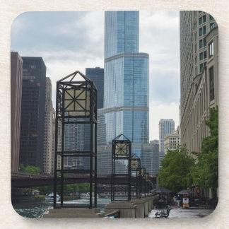 Chicago River Weg Getränkeuntersetzer