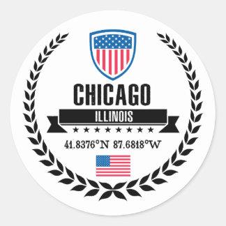 Chicago Runder Aufkleber