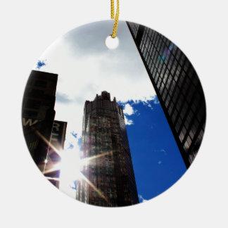 Chicago-Skyline Keramik Ornament