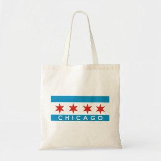 Chicago-Stadtflaggenamerika-Textname Tragetasche