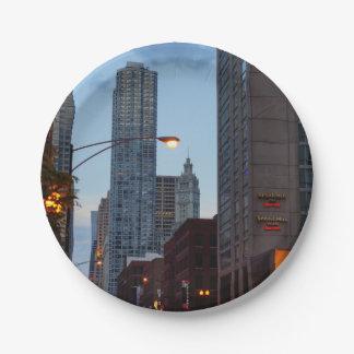 Chicago-Straßen-Szene Pappteller