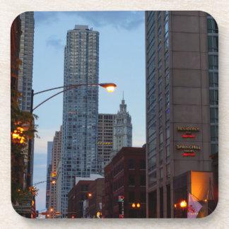 Chicago-Straßen-Szene Untersetzer