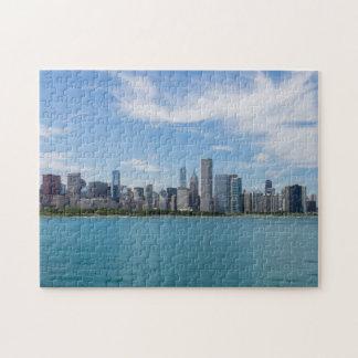 Chicago-TagesStadtbild Puzzle