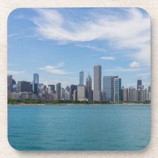 Chicago-TagesStadtbild Untersetzer