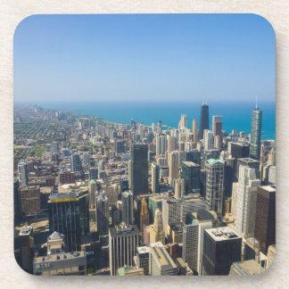 Chicago von oben untersetzer