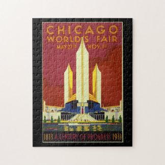 Chicago-Weltmesse-Vintages Plakat 1933 Puzzle