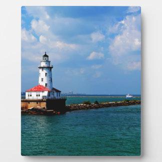 Chicagos Leuchtturm Fotoplatte