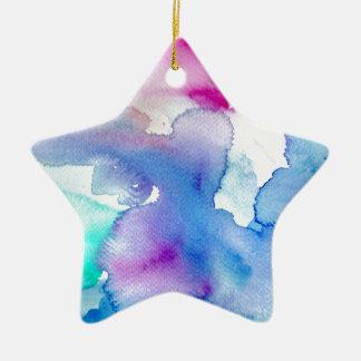 Chicmoderner magentaroter blauer aquamariner keramik ornament
