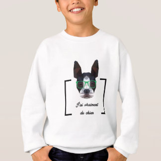 Chien Hipster - Low Poly Sweatshirt