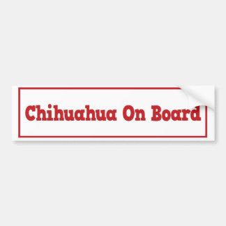 Chihuahua an Bord des Autoaufklebers Autoaufkleber