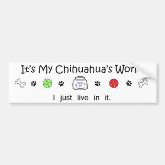 Chihuahua Autoaufkleber