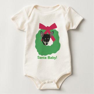 Chihuahua-Feiertags-Kranz Baby Strampler
