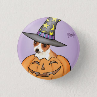 Chihuahua Halloween Runder Button 3,2 Cm
