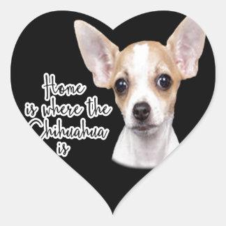 Chihuahua Herz-Aufkleber