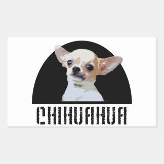 Chihuahua-Hundeaufkleber Rechteckiger Aufkleber