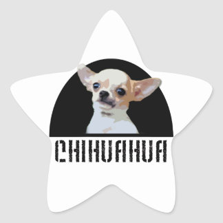 Chihuahua-Hundeaufkleber Stern-Aufkleber